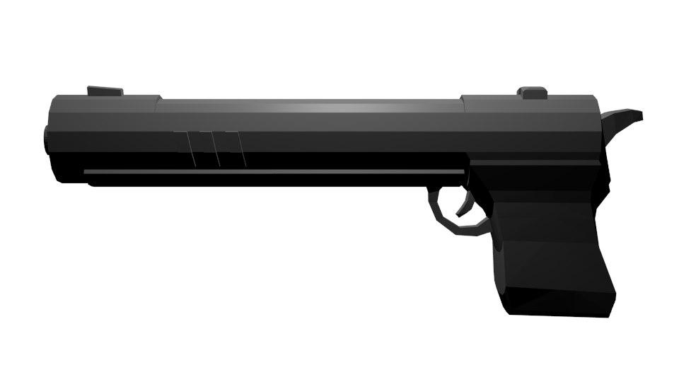 3d long barrelled gun