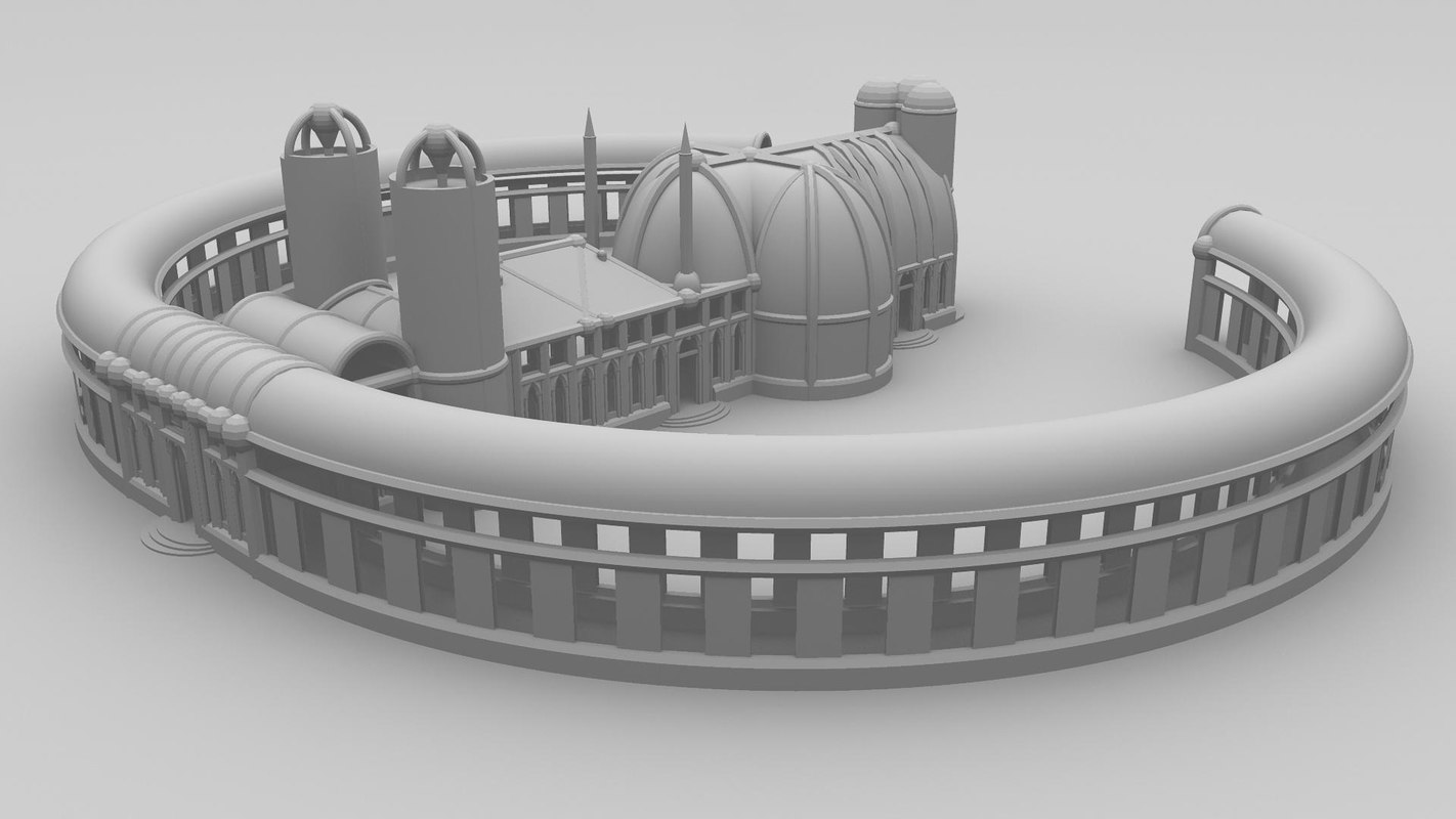 fantasy building cathedral 3d model