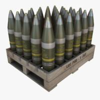 3dsmax artillery shells