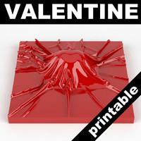 3d max valentine heart