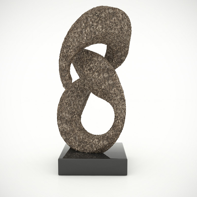 3d model figure 8 sculpture