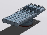 chta-53 torpedo tube 3d model