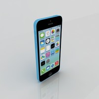3d model iphone 5c phone