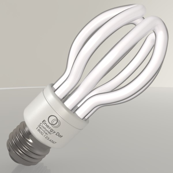 energy saving light bulb 3ds