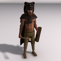 Low-poly Bear warrior