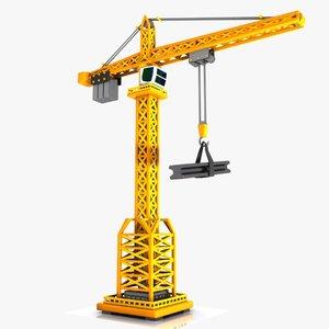 3d model toon tower crane