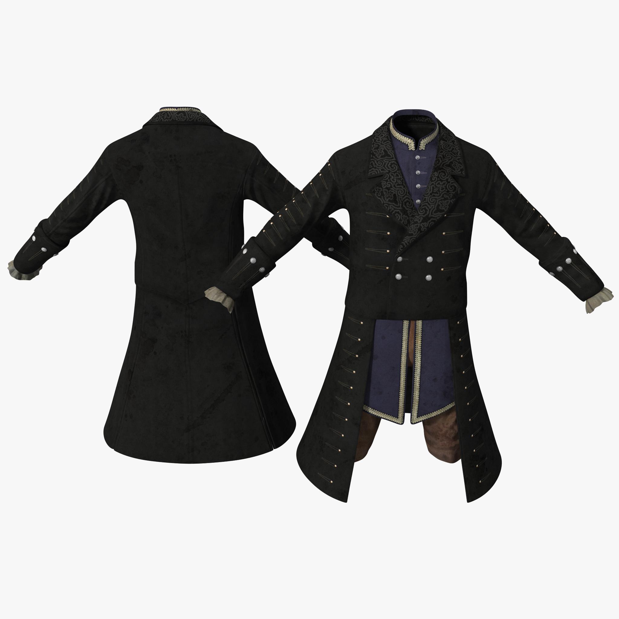 18th century mens costume 3d max
