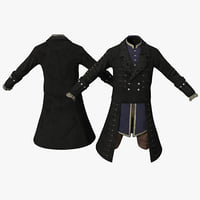 18th century mens costume 3d max