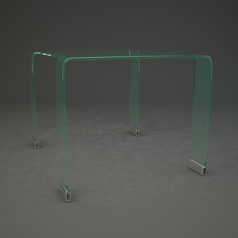 3d glass coffee table