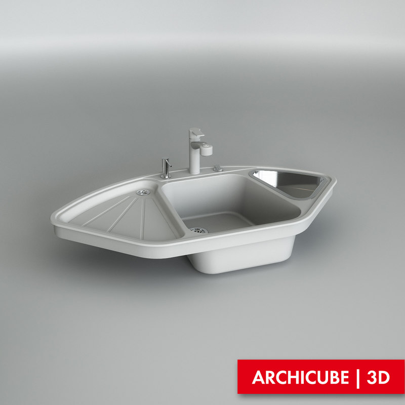 kitchen sink 3d model