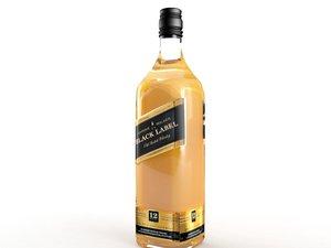 black label bottle 3d max
