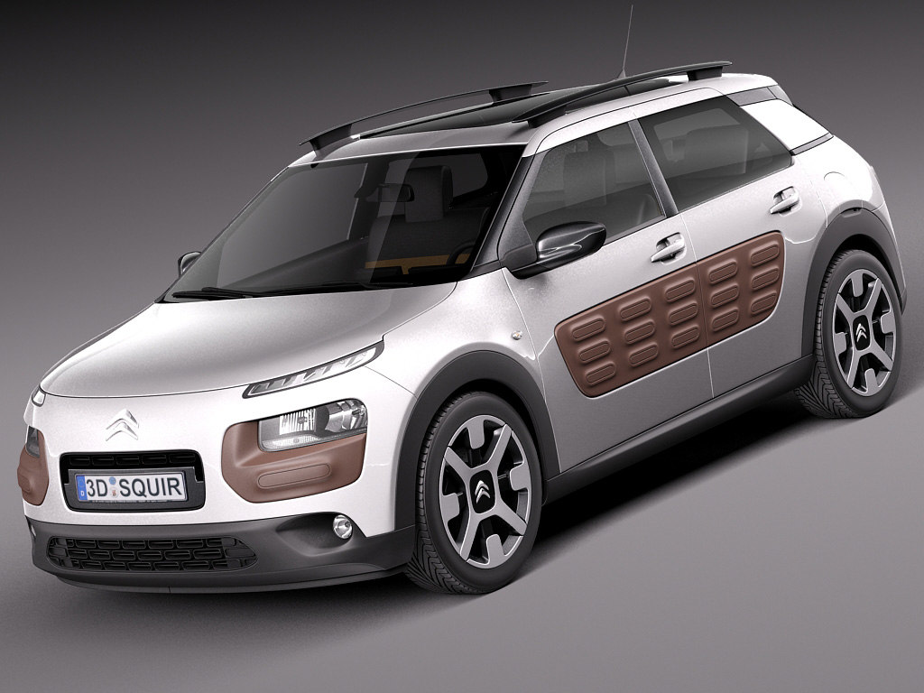 citroen c4 cactus 3d model. Black Bedroom Furniture Sets. Home Design Ideas