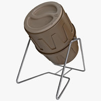 compost bin suncast tumbling 3d model