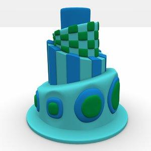 topsy turvy cake 3d model