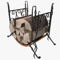 firewood storage rack max