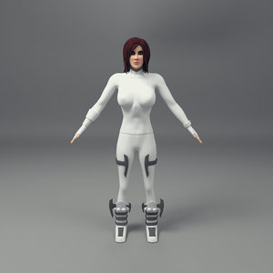 3d model rigged female