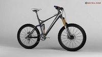 3d model generic mountain bike