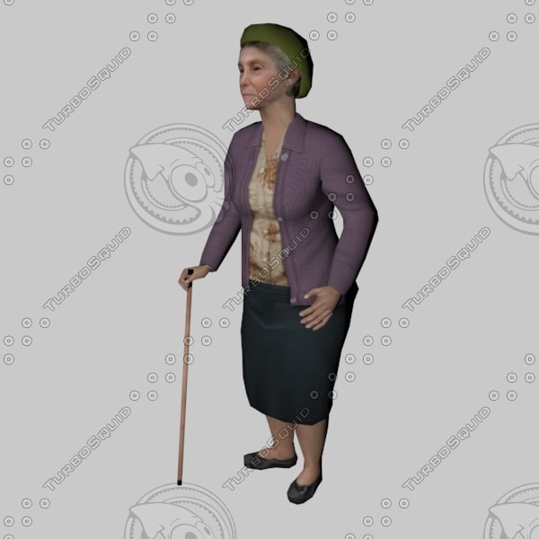 grandmother gran 3d max