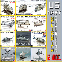 US NAVY HELICOPTER 12 MODEL Collection