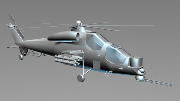 free helicopter military 3d model