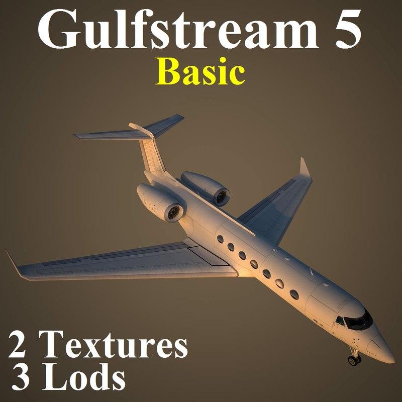 3d gulfstream 5 basic model