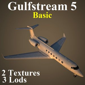 3d gulfstream 5 basic model