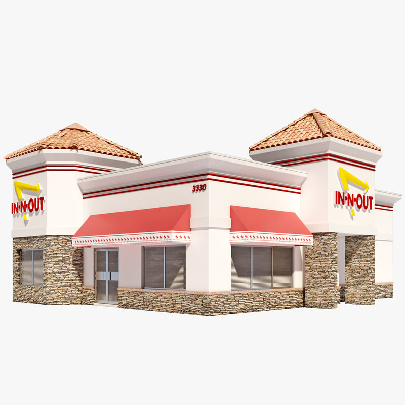 3dsmax in-n-out burger restaurant house