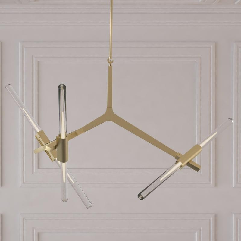 3d model agnes chandelier - 6