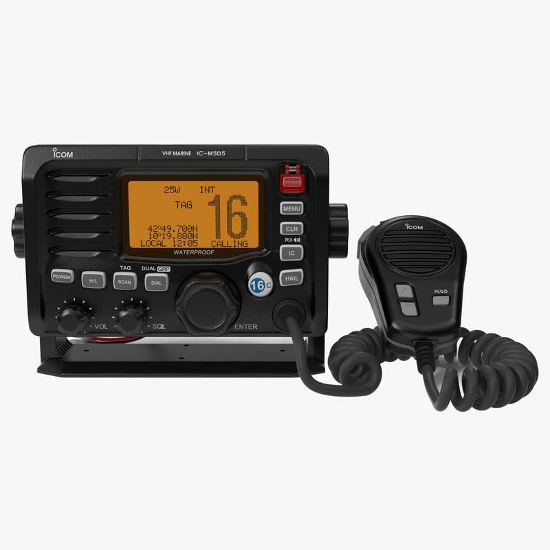 3ds max marine transceiver microphone icom