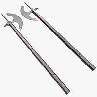 3dsmax medieval horsemans axe