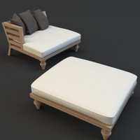 OUTDOOR CHAIR AND OTTOMANLOUNGE CHAIR