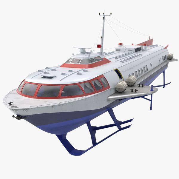 3dsmax passenger hydrofoil boat