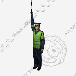 policeman police 3d model