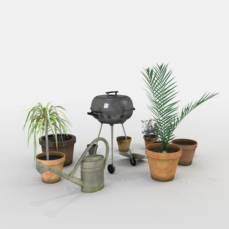 3d model patio decor
