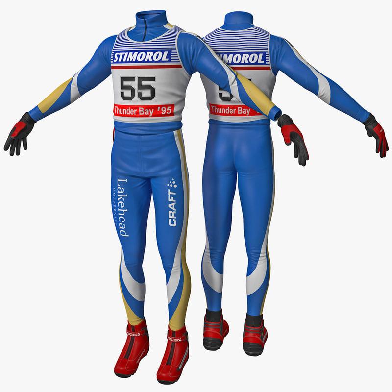 skier clothes 3d model