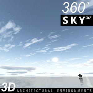 3d model sky clouds