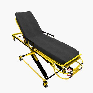 3d ambulance stretcher