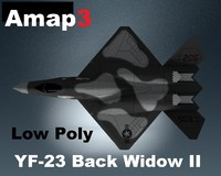 3d model yf-23 black widow ii