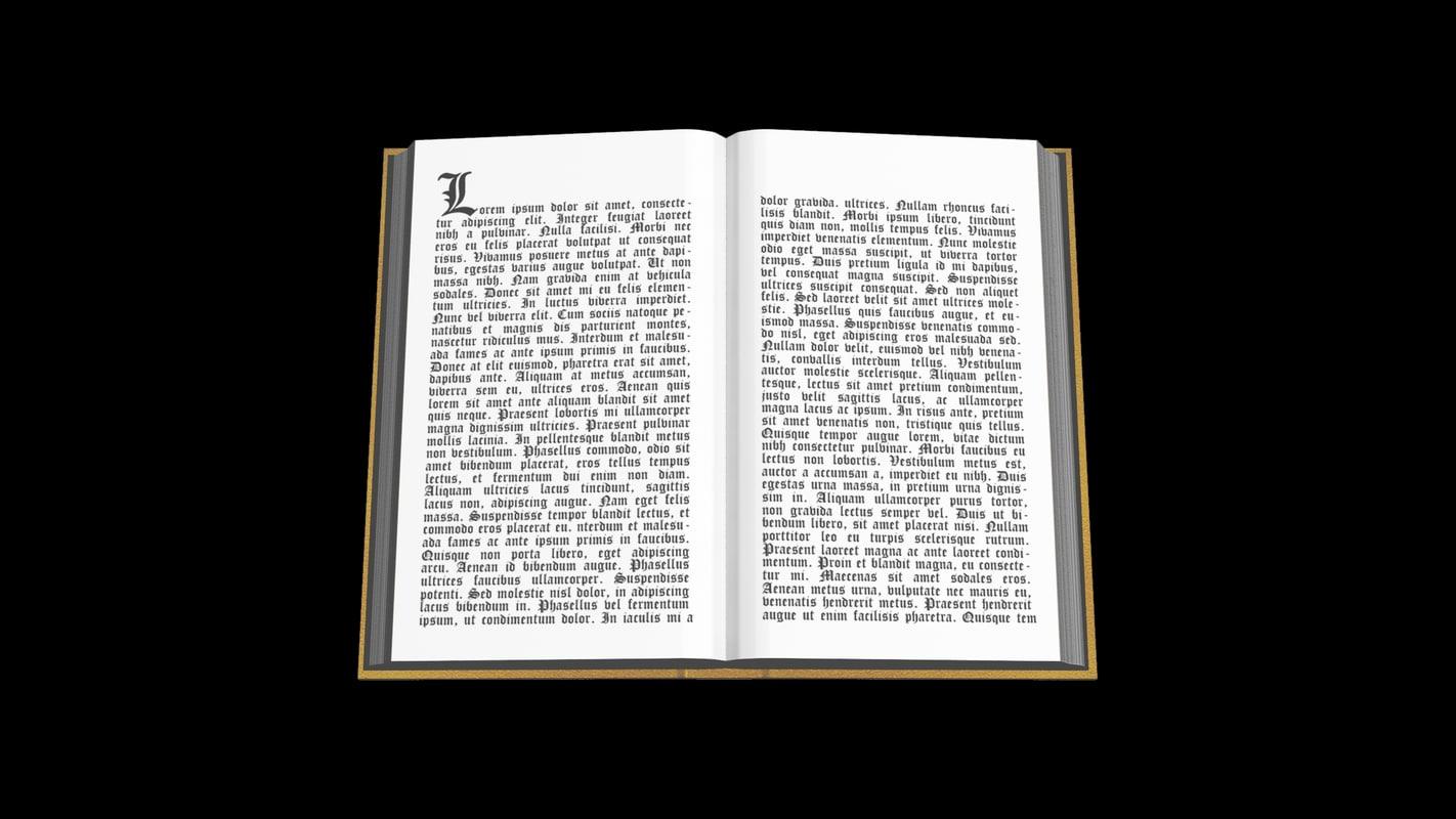 open book 3d max