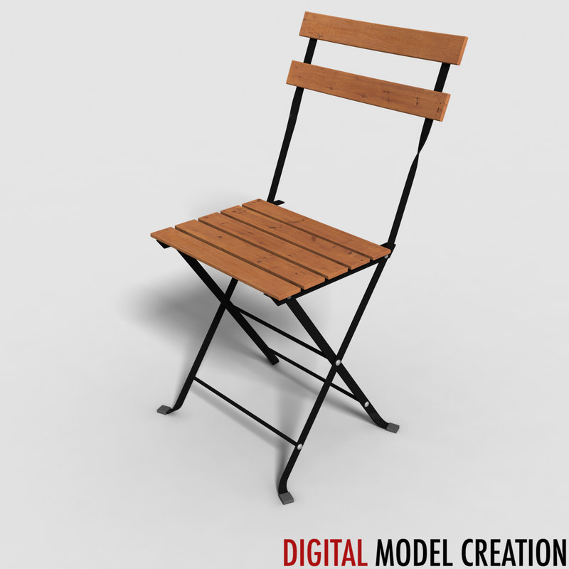 chair bistros 3d model