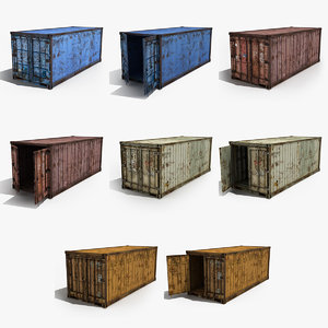 cargo containers 3d model