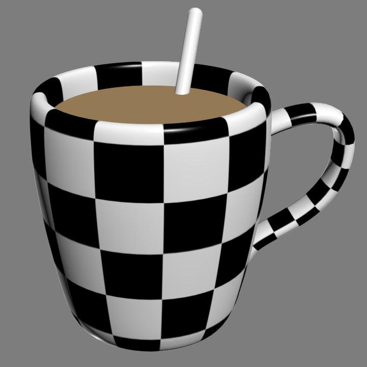 free 3ds model cup coffee mug