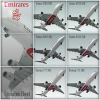 3dsmax plane emirates fleet