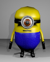 low-poly minion 3d model