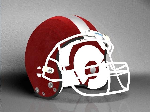 3d model of football helmet