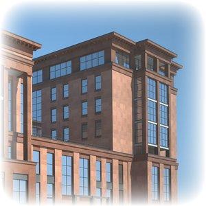 commercial apartment building 3d model