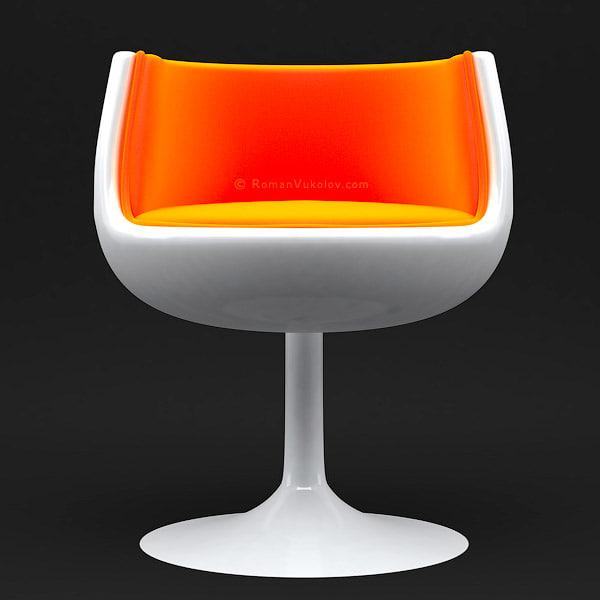 modern armchair obj