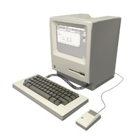 3d model of old computer