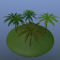 group palm trees 3d 3ds