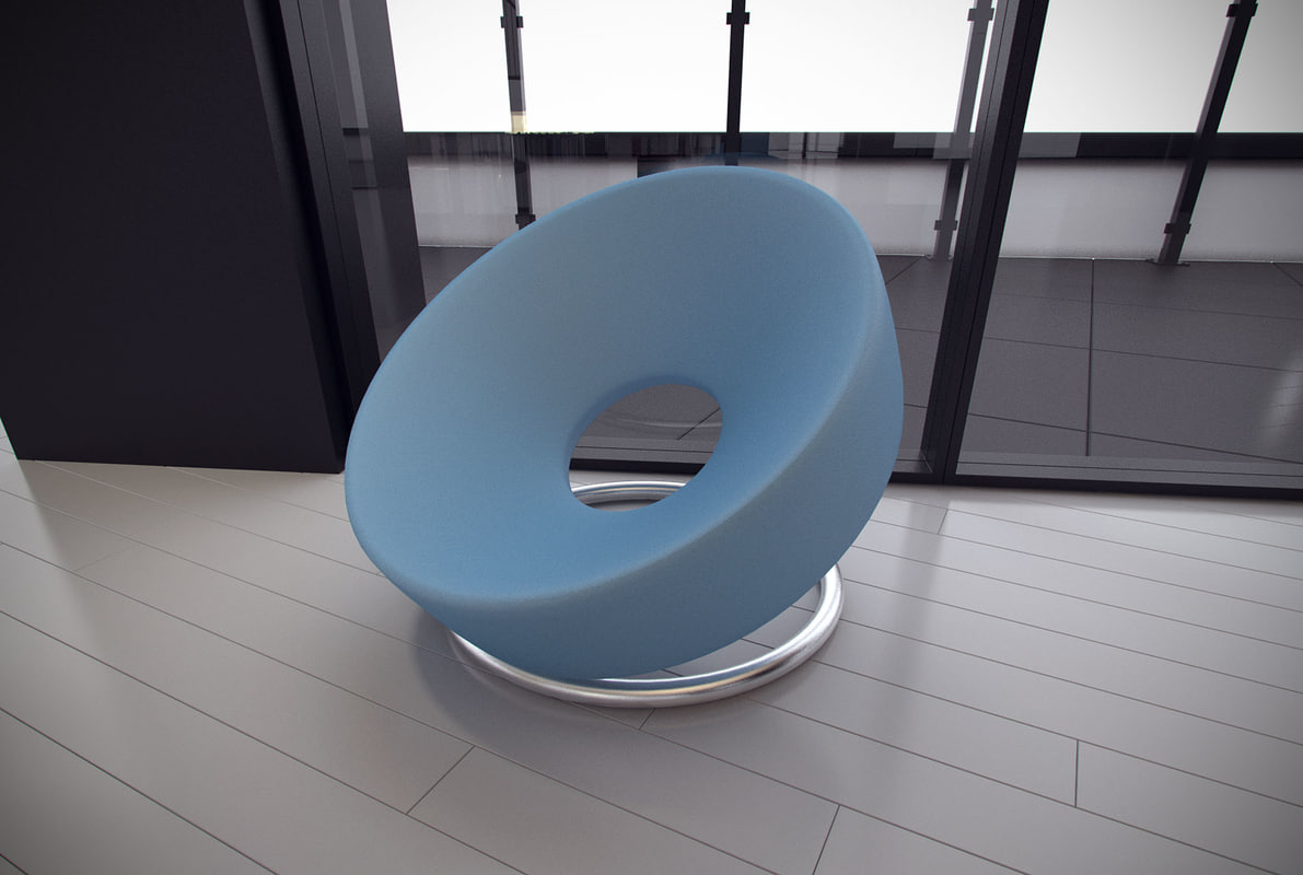 3dsmax Chair Designed Leather Nouvelle